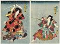Utagawa Kunisada II - Actors Nakamura Shikan IV as Toriyama Shûsaku and Sawamura Tanosuke III as Shiranui.jpg