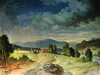 Utsigt af byn Sälen