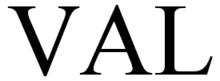 "Lettering ""VAL"" without undercut"