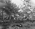 VCJC-kamp te Oirschot. Met tent rechts en midden achter bomen, Bestanddeelnr 902-8807.jpg
