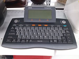 Internet appliance - A VTech Model 80-36447, a type of Internet Appliance. Note the button on the console that would link the user to the Yahoo! webportal.