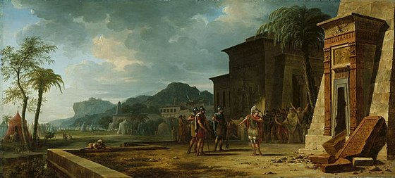 Alexander at the Tomb of Cyrus the Great, by Pierre-Henri de Valenciennes (1796) Valenciennes, Pierre-Henri de - Alexander at the Tomb of Cyrus the Great - 1796.jpg