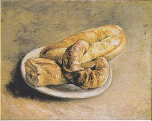 Still life, plate with bread