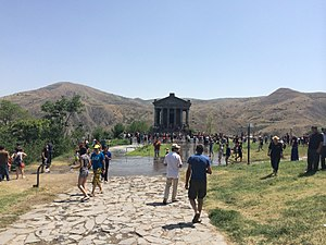 Temple of Garni - Vardavar, a popular summer festival of pre-Christian (pagan) origins, being celebrated near the temple in 2014