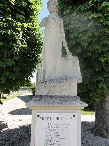 Variscourt (Aisne) monument aux morts