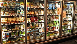 photograph of aisle in Veganz