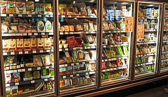Veganism - Mock meats in Veganz, a vegan supermarket in Berlin