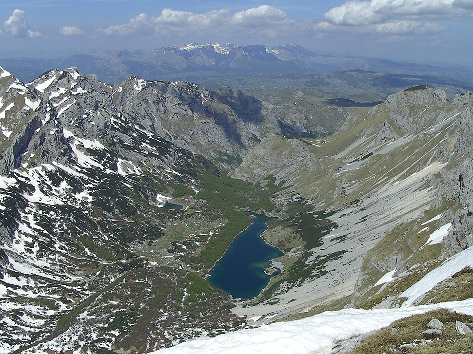 Velke a male Skrcke jezero mezi Prutasem a Planinici (2330 m