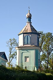 Velykyi Okorsk Lokachynskyi Volynska-Bell tower of Saint Michael church-north view.jpg