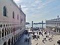 Venezia Basilica di San Marco Terrasse Blick auf die Piazzetta San Marco 1.jpg