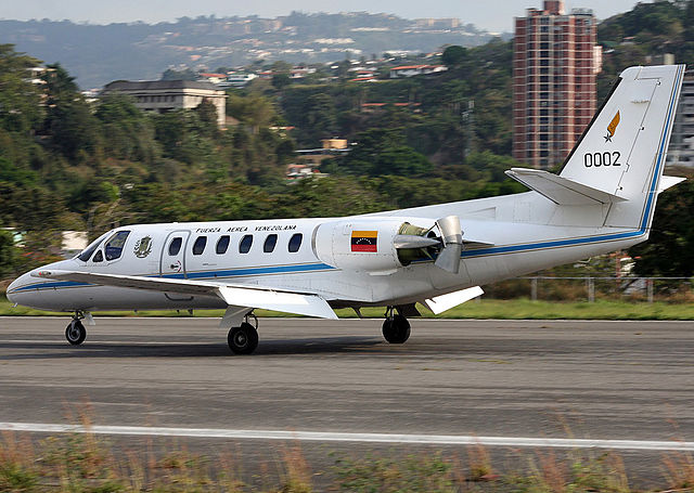 File Venezuela Air Force Cessna 550 Citation Ii Aadpr 1 Jpg