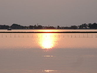 Veneto - The Venetian Lagoon at sunset