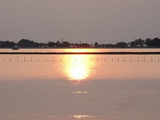 Veneto - The Venetian Lagoon at sunset
