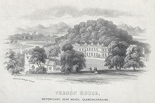 Vernon house, Britonferry, near Neath, Glamorganshire