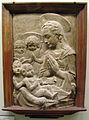 Verrocchio (bottega), madonna col bambino, san giovannino e angeli, xv sec.JPG