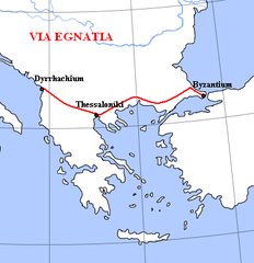 232px-Via_Egnatia Map Of Ancient Roman Empire on map of ancient britannia, map of ancient rome, map of ancient holy land, map of roman empire today, byzantine empire, map of his empire alexander the great, middle ages, ancient history, map of ancient europe, map of ancient gaul, map of ancient greek empire, fall of roman empire, regions of the roman empire, ancient egypt, roman road, map of ancient middle east, roman forum, map of ancient mediterranean world, roman architecture, latin language, map of ancient israel, ancient greece, map of ancient carthage, maps of the roman empire, map of persia, roman legion, map of mauryan empire, map of ancient italy, map of ancient alexandria, julius caesar, map of ancient egypt,