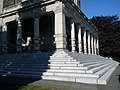 Victoria Legislature building stairs from rear - panoramio.jpg