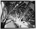 View West, South Truss, Inside Cross Bracing Detail - Bridge No. 110, Spanning Wepawaug River and Prospect Street at Metro-North Railroad, Milford, New Haven County, CT HAER CONN,5-MILF,4-10.tif