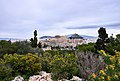 View of the Acropolis and Mount Lycabettus from the Philopappos Hill.jpg