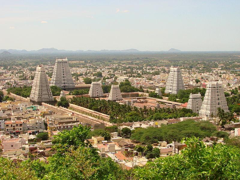 File:View over Arunchaleshvara Temple from the Red Mountain - Tiruvannamalai - India 01.JPG