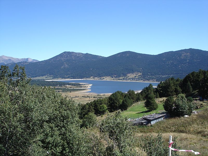 View over Lac de Matemale Les Angles