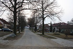 Village square in Třebenice, Třebíč District.jpg