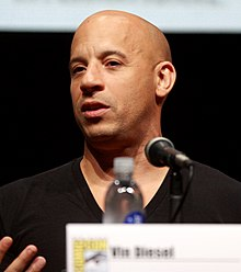 Vin Diesel - the cool, tough,  actor  with Afro-American, German, Irish, Scottish, English,  roots in 2019