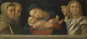 Francesco Bonsignori - Bonsignori: The Virgin and Child with Four Saints. The National Gallery, London. (Between circa 1490 and circa 1510)