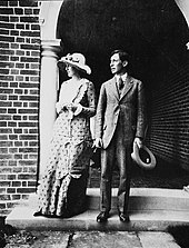 Virginia and Leonard on their engagement in July 1912
