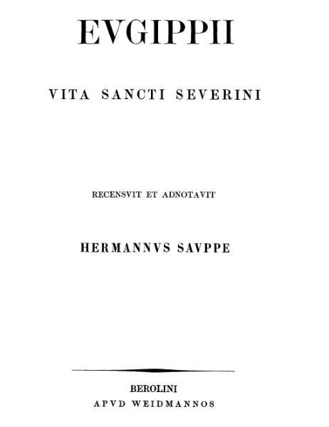 File:Vita Sancti Severini.djvu