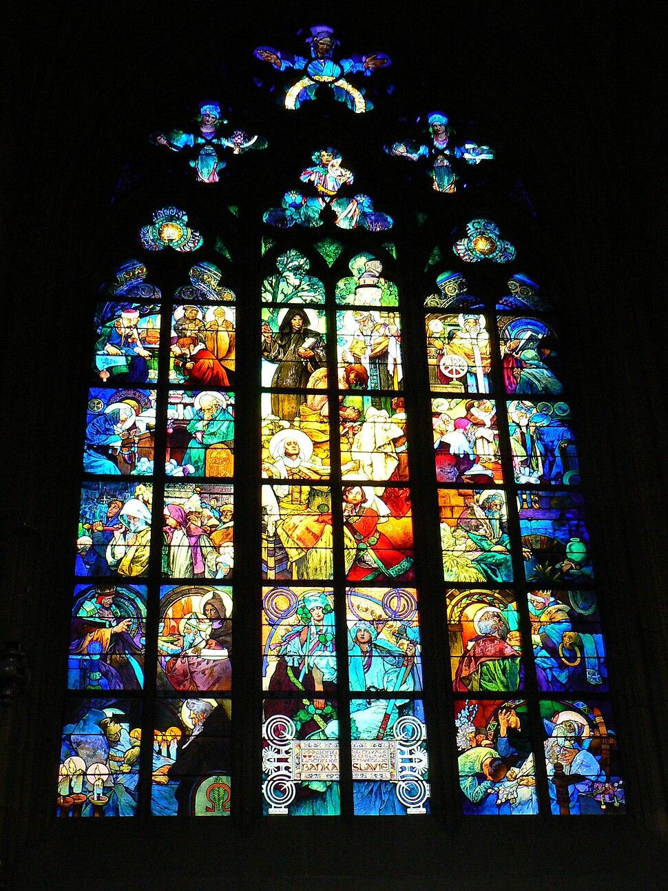 Vitraj v Katedrale sv. Vita v Praze