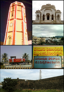 Vizianagaram City in Andhra Pradesh, India