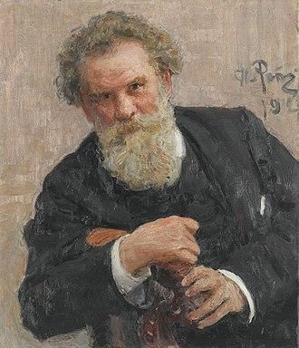 Vladimir Korolenko - Portrait by Ilya Repin