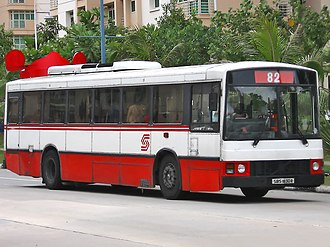SBS Transit - Singapore Bus Service liveried Duple Metsec bodied Volvo B10M in January 2006