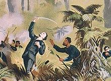 Gustavus von Tempsky viene colpito durante le guerre māori.