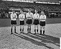 Voorhoede van Feyenoord, vlnr Moulijn, Meijers, Van der Gijp, Schouten en Ri, Bestanddeelnr 911-0958.jpg
