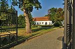 Vstup do areálu lázní před lázeňským domem Morava, Slatinice, okres Olomouc (02).jpg