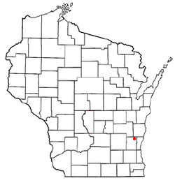 Location of Farmington, Washington County, Wisconsin