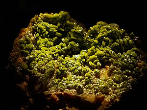 Kellogg, Idaho - Pyromorphite specimen from the Bunker Hill Mine