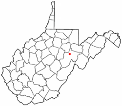 Location of Elkins, West Virginia