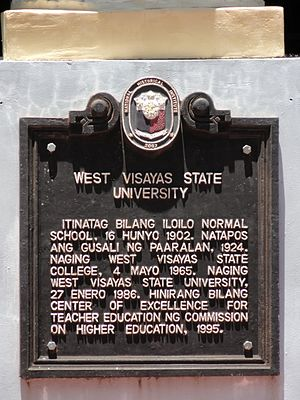 West Visayas State University - WVSU historical marker