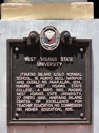 West Visayas State University - WVSU historical marker