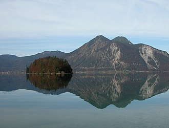 Walchensee - The island Sassau