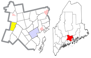 Freedom, Maine - Image: Waldo County Maine Incorporated Areas Freedom Highlighted