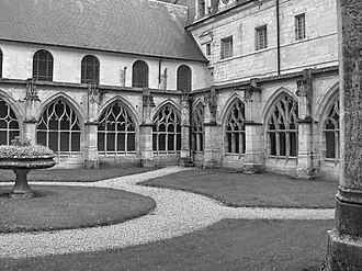 Abbey of Saint Wandrille - Cloisters and courtyard, Abbey of St Wandrille—Fontenelle Abbey