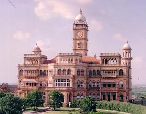 Wankaner State - Wankaner Palace, built by Maharaja Amarsinhji in the 20th century.