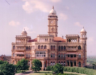 Wankaner State - Wankaner Palace, built by Maharaja Amarsinhji in the 20th century.