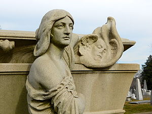 Laurel Hill Cemetery - William Warner memorial sculpted by Alexander Milne Calder