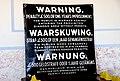 Warning sign, Prohibited Diamond Area (Namibia).jpg