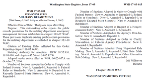 Law of Washington (state) - The Washington State Register is the official government gazette.